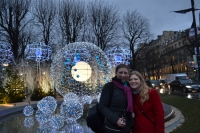 Me and Kristen with Paris holidays lights