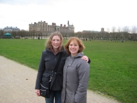 Me and Alison in front of Chateau de Saint-Germain-en-Laye