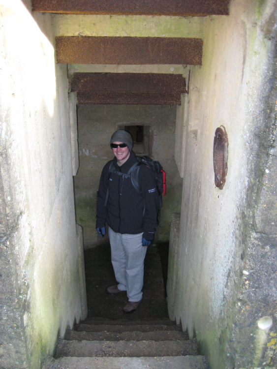 Exploring the bunkers
