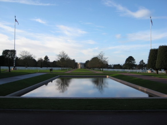 Reflecting pool at American Cemetery