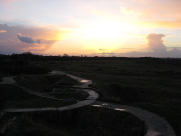 Sunset at Pointe-du-Hoc