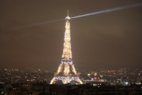 Sparkly Eiffel at night